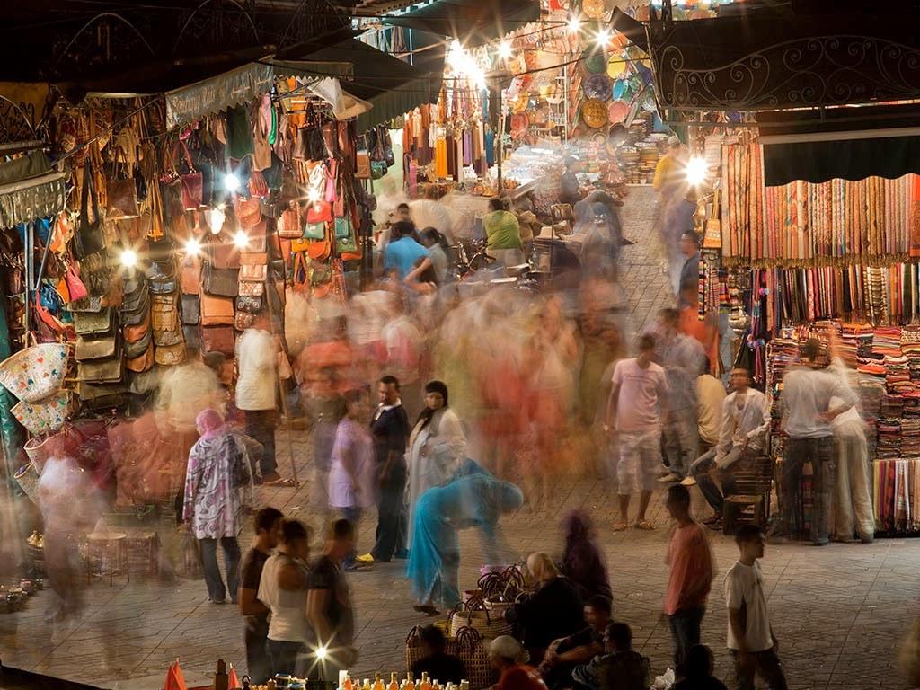. Souks de Marrakech .